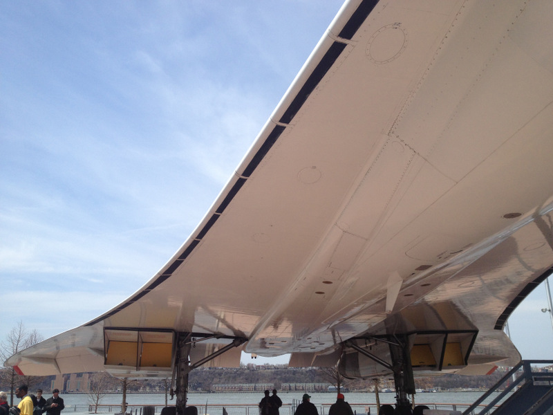 Probably the most stood-under Concorde in North America.