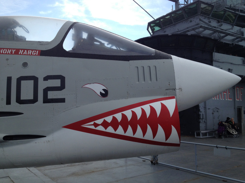 Continuing in the toothy motif, the F-8 Crusader.